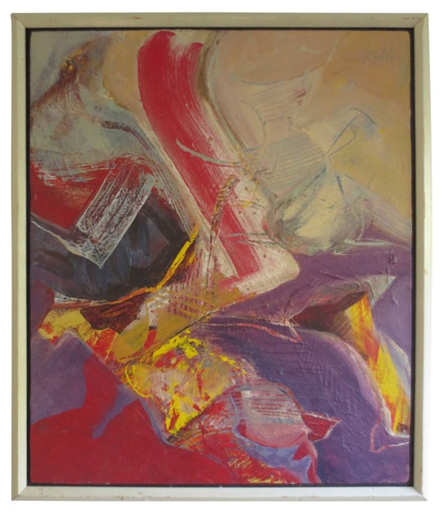 Abstract in Purple & Red