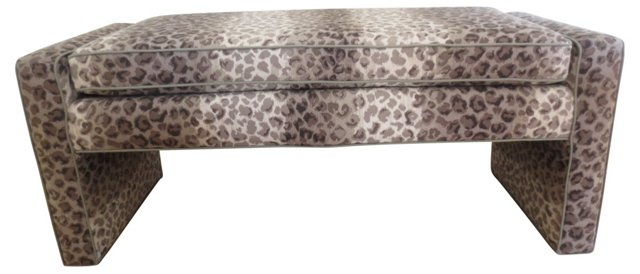 Uphostered Bench w/ Cheetah Print