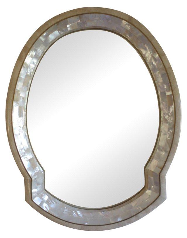 Tessellated Marble & Nacre Mirror
