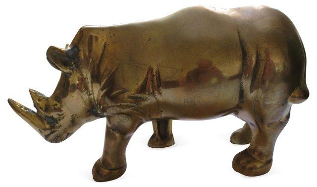 1970s Brass Rhinoceros