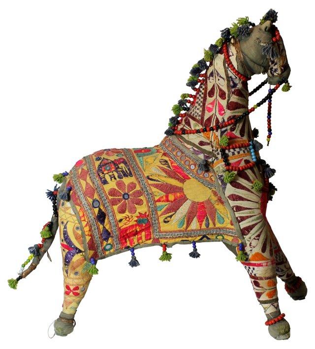 Oversized Textile Horse