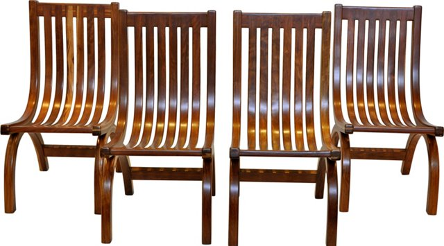 Danish Rosewood   Dining Chairs, S/4