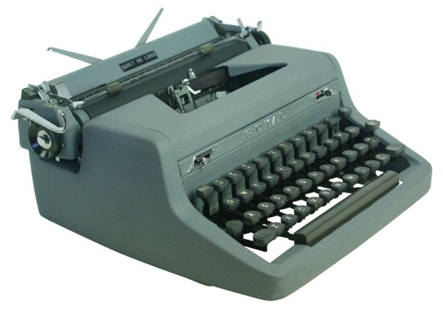 Quiet DeLuxe Typewriter by Royal