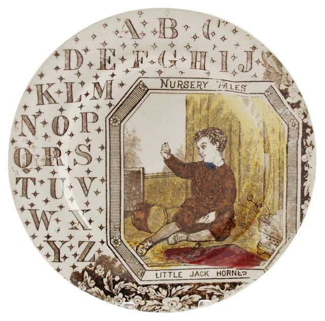 Jack Horner Staffordshire ABC Plate