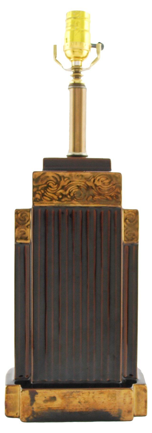 1920s French Art Deco Lamp