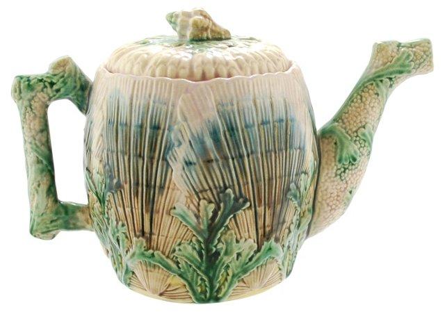Etruscan Majolica Griffen & Hill Teapot