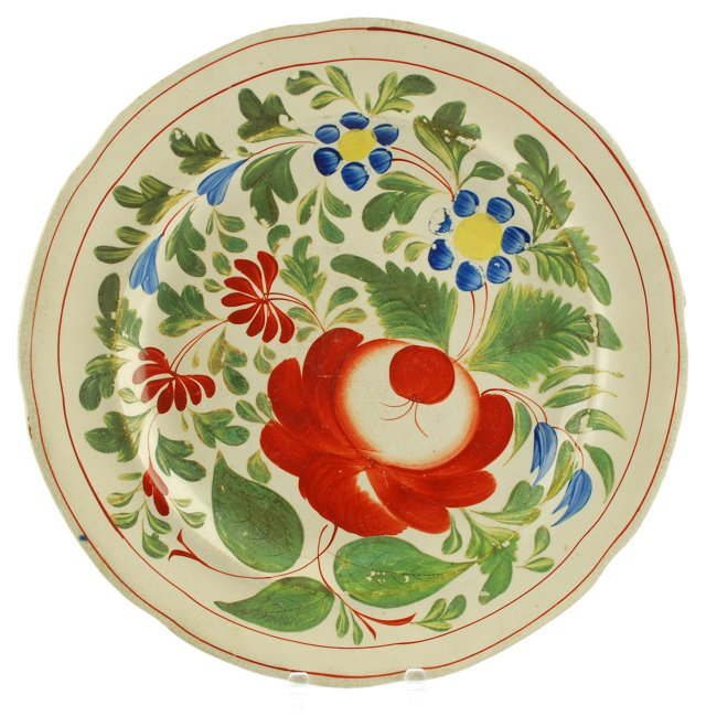 Staffordshire Rose Wall Plate, 1799