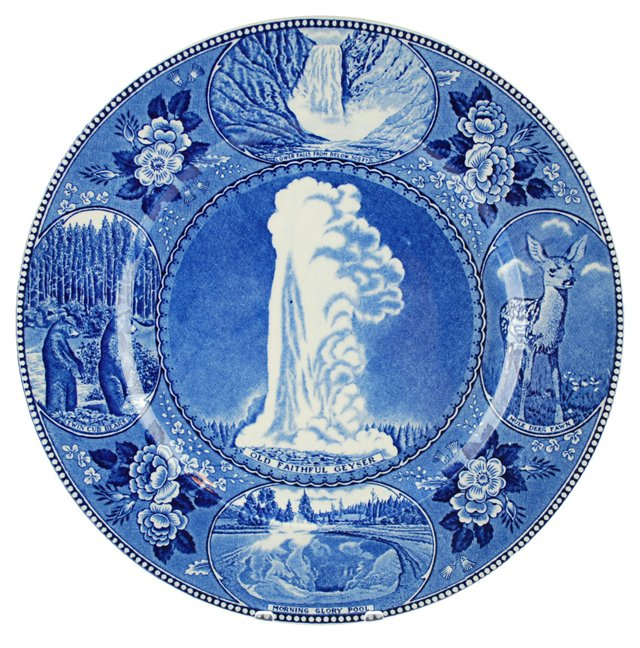Staffordshire Old Faithful Wall Plate