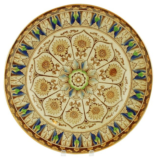 19th-C. Brownfield Cyprus Wall Plate