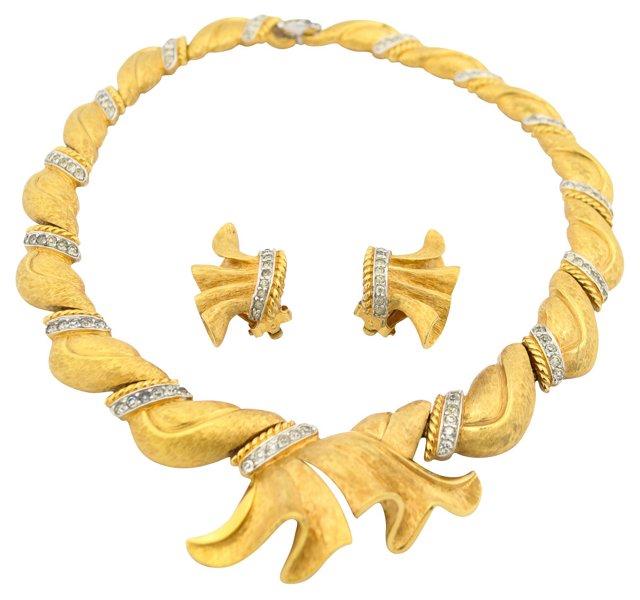 Jomaz Gilt Necklace & Earrings