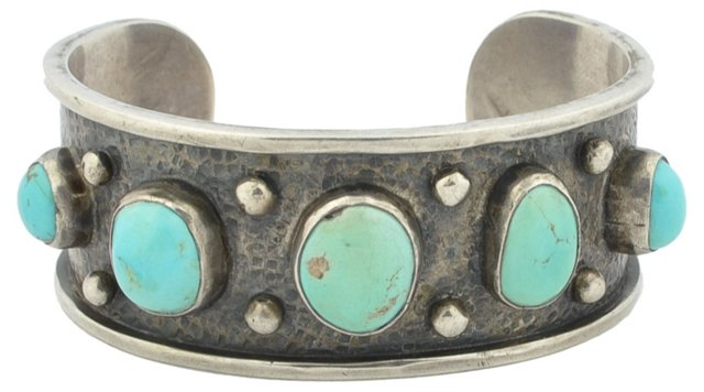 Navajo Turquoise & Sterling Cuff