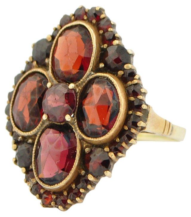 Rose-Cut Bohemian Garnet Ring