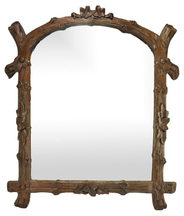 Hand-Carved Black Forest Mirror