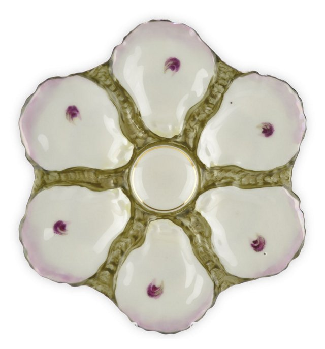 Antique  Haviland Oyster Wall Plate