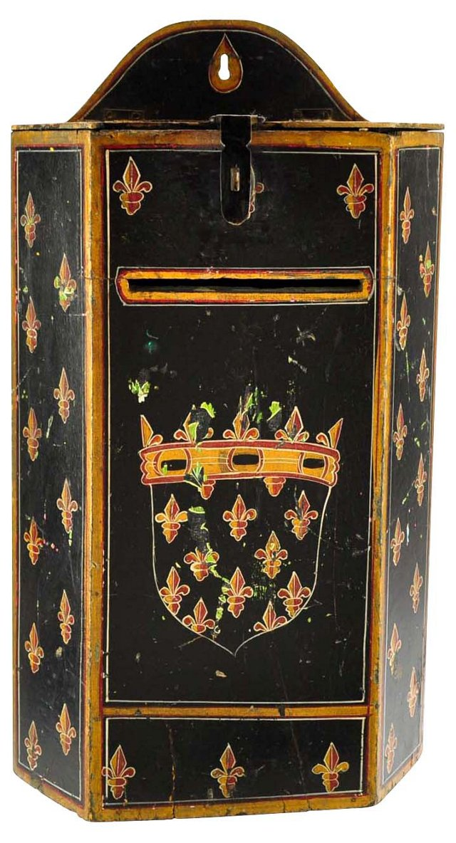 Antique Hand-Painted Wall Box