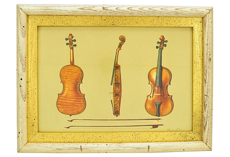 William Gibb Illustrative Violin Print