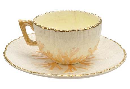 Albino Etruscan Majolica Cup Saucer