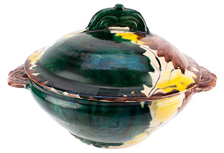 Mexican Pottery Dripware Casserole w/Lid