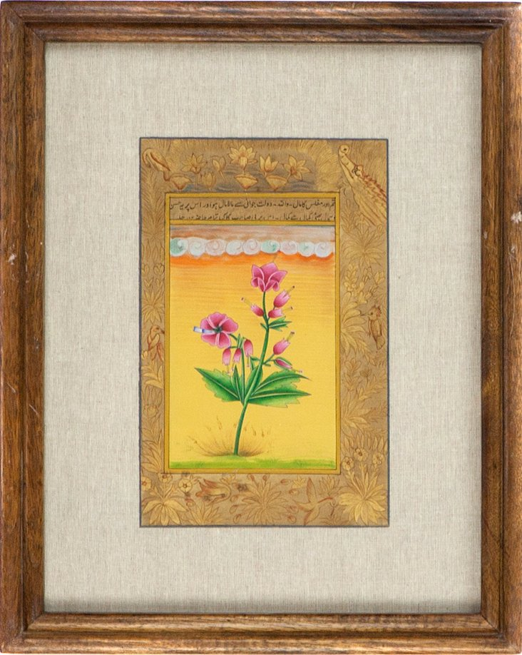 Pink Blossoms on Manuscript