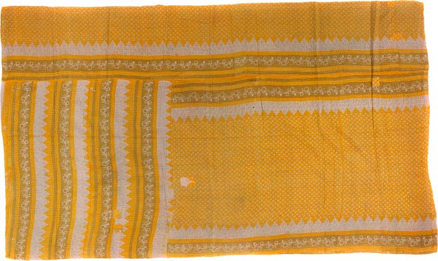 Yellow & White Kantha