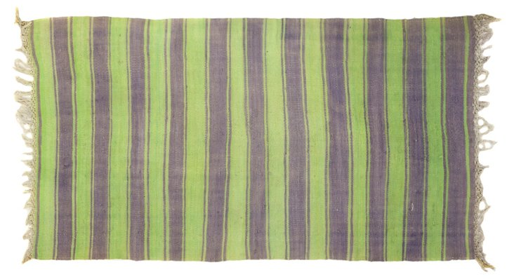 "Striped Tribal Dhurrie, 5'9"" x 3'1"""