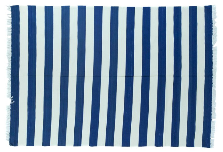 Striped Dhurrie, 4' x  6'