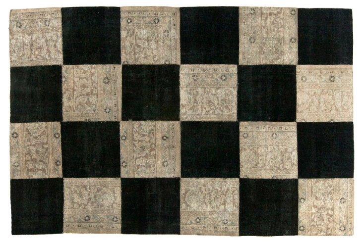 "Checkered Overdyed Rug, 5'11"" x 9'"