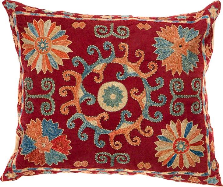Sun Suzani Pillow