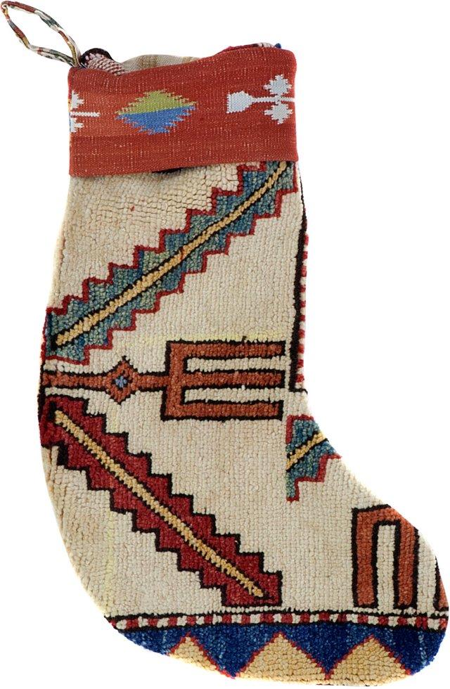 White Kazak Stocking