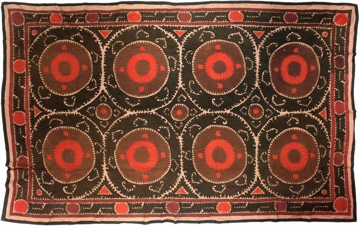 Brown & Red    Uzbek Suzani