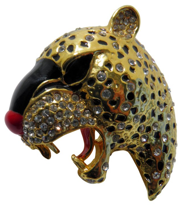 1970s Panther Brooch