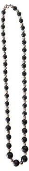 Sterling & Onyx Bead Necklace