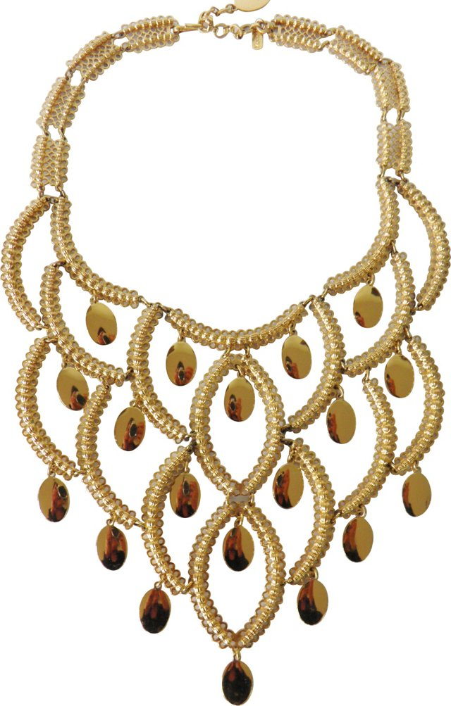 Monet Gold-Plated Bib Necklace