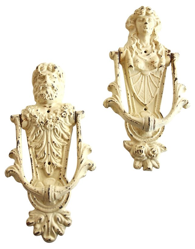 Greek Door Knockers, Pair