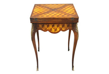 Louis XV-Style Ormolu Chess Table