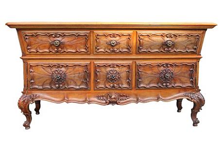 Carved Fruitwood Dresser