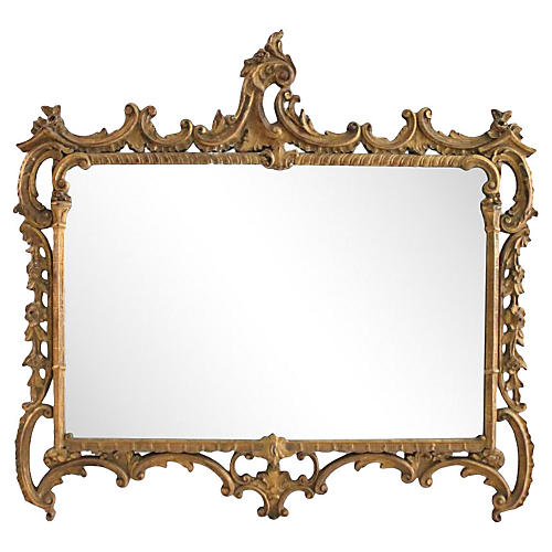 Gilded Ornate Buffet Mirror