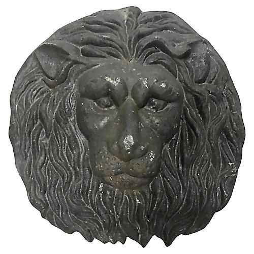 Cast Iron Lion Medallion