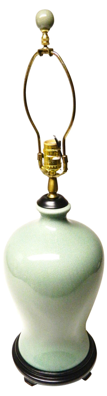 Celadon Crackle Ceramic Lamp