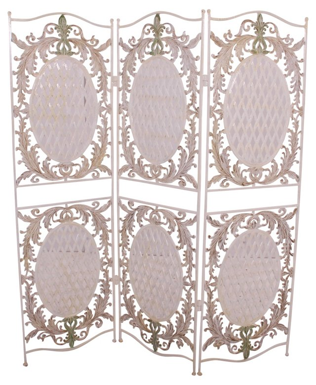 French-Style 3-Panel Screen