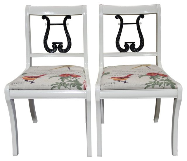 Lyre-Back Side Chairs