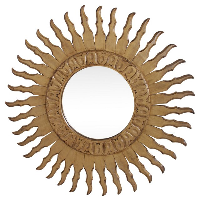 Carved Sunburst Mirror