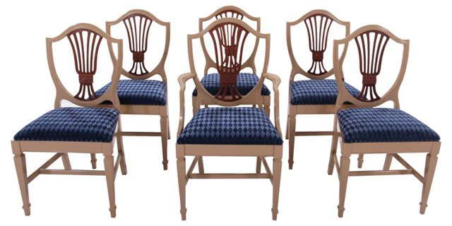 Shield-Back Dining Chairs,(hold)