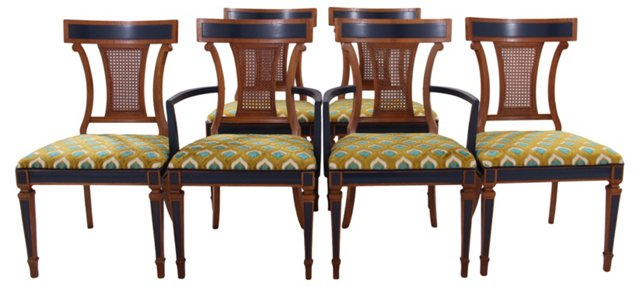 Cane-Back Dining Chairs,(hold)