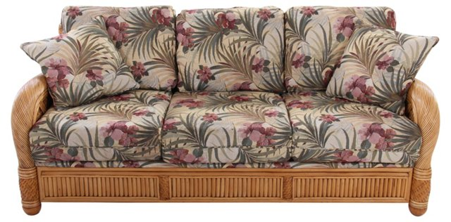 Wicker Tropical Sofa