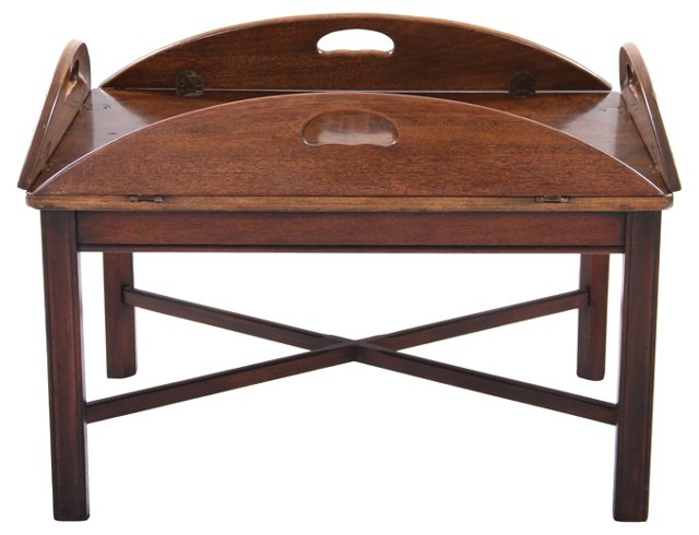 Brandt Walnut Butler's Tray Table