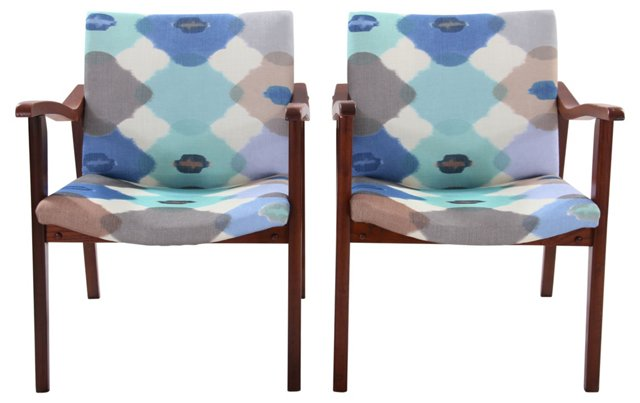 Italian-Designed Midcentury Chairs, Pair