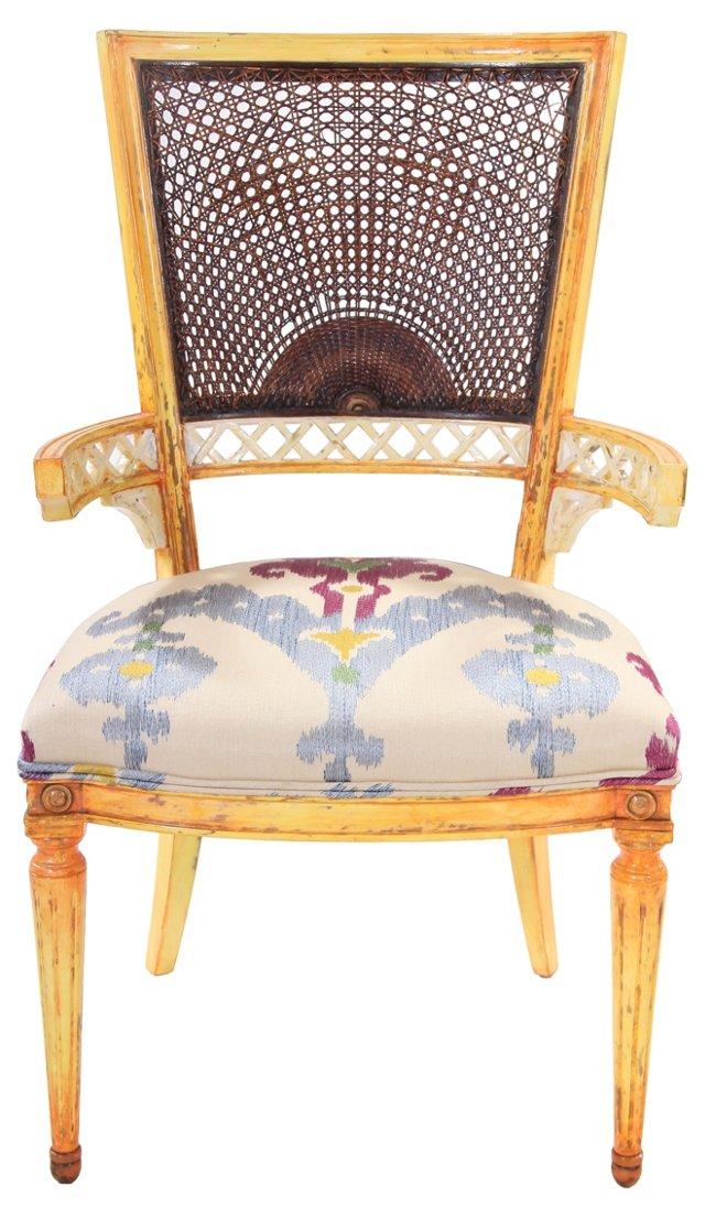 Italian Cane Back Armchair