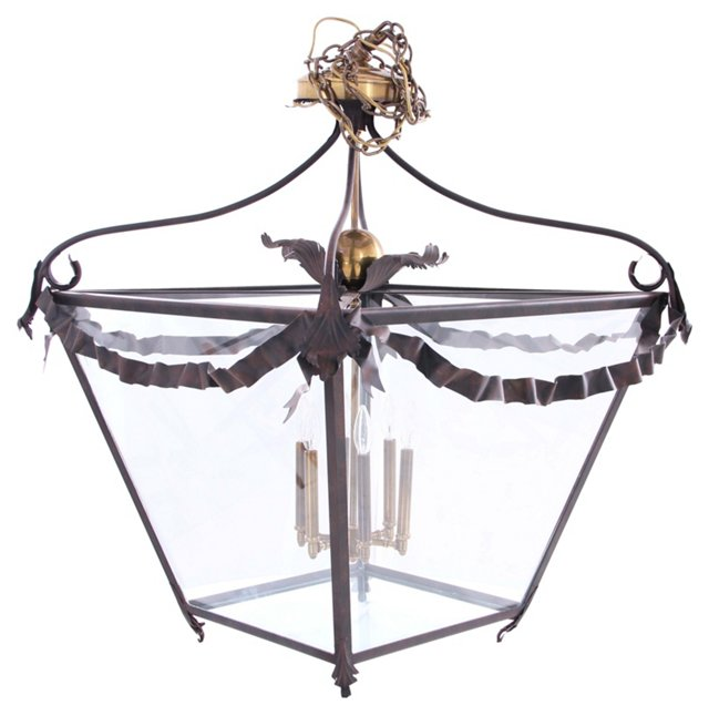 Brass & Cast Iron Chandelier