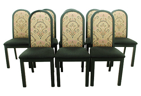 Mid-Century Modern Side Chairs, S/8